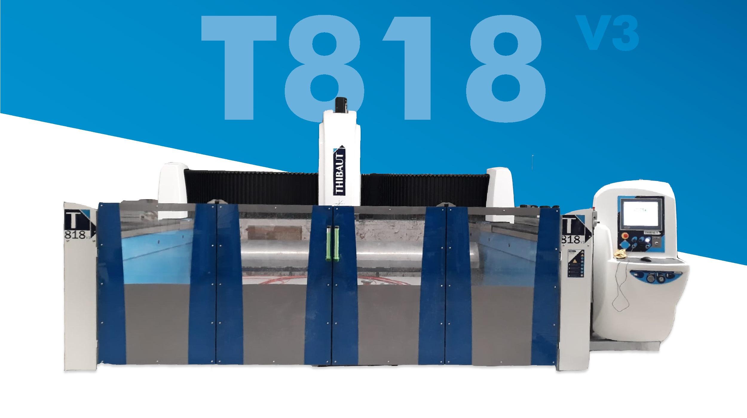 Centro de Trabajo CNC / T818 V3 M5 / 3 o 4 ejes